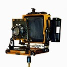 An old-fashioned large format field camera (thumbnail)