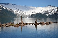 Cairns on Garibaldi Lake, British Columbia, Canada