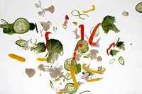 Vegetables against a white background (thumbnail)