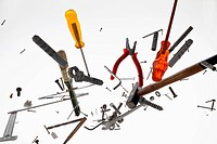 Hand tools and equipment against a white background (thumbnail)