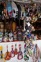 A souvenir stall, Merced Market, Mexico City, Mexico