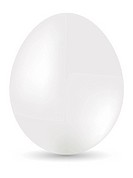White egg on white background. Vector illustration