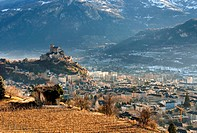 Sion, the capital of the Swiss canton of Valais