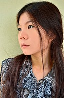 Portrait of beautiful asian woman closeup