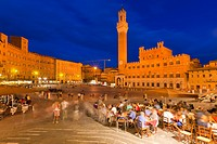 Piazza del Campo, Siena, Province of Siena, Tuscany, Italy, Europe