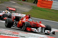 Fernando Alonso, Lewis Hamilton, Qualifying, Formula One, German Grand Prix, Nurburgring, Germany