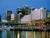 Australia, N S W , Sydney, Darling Harbour, skyline