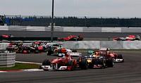 Fernando Alonso, Sebastian Vettel, Formula One, German Grand Prix, Nurburgring, Germany