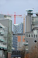 Gruner und Jahr publishing house, behind the Elbphilharmonie philharmonic hall, Hamburg, Germany, Europe