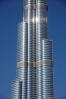 Close up of Burj Khalifa, Dubai, United Arab Emirates  UAE