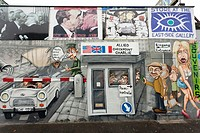 Berlin East Side Gallery on the former Berlin Wall