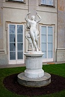 Bachantka marble statue from 18th century originally made in Rome, Italy in the Lazienki Krolewskie in Warsaw, Poland