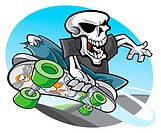 Skeleton skateboarding