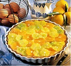Sicilian lemon cream pie, Italy, recipe available for a fee