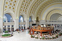 Interior view, Great Main Hall, waiting room, Union Station, Washington DC, District of Columbia, United States of America