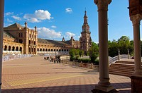 Plaza de España in María Luisa Park, Seville, Andalusia, Spain, Europe