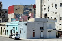 Buildings on the Malecon, Avenida de Antonio Maceo, a boulevard along the city center of Havana, Centro Habana, Cuba, Greater Antilles, Gulf of Mexico...