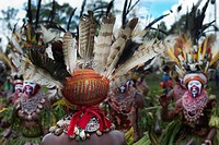 Western Highlanders at Mount Hagen Show, Western Highlands, Papua New Guinea, Oceania