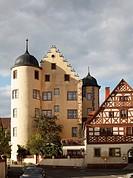 Schloss Oberschwarzach Castle, Steigerwald, Lower Franconia, Franconia, Bavaria, Germany, Europe, PublicGround