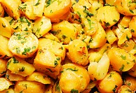 boiled potatoes salad with herbs