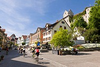 Historic district, Meersburg, Baden-Wuerttemberg, southern Germany, Germany, Europe