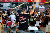 Sebastian Vettel GER, Red Bull Racing, RB7 at drivers parade