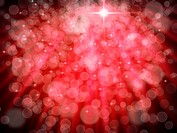 Abstract of Red Aura White bokeh for Christmas web page background