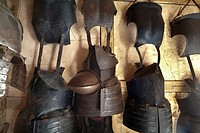 Jamestown, Virginia.Armor on display at the Jamestown Settlement.
