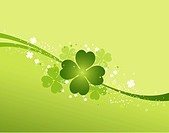 St. Patrick background with clover, element for design, vector illustration