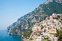 Panoramic view of Minori, wonderful town in Costiera Amalfitana _ Italy