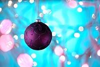 Purple Christmas Bauble.