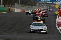 Race, Safety car leads Sebastian Vettel GER, Red Bull Racing, RB7, F1, Korean Grand Prix, Yeongam, Korean