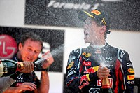 Race, Sebastian Vettel GER, Red Bull Racing, RB7 race winner, F1, Korean Grand Prix, Yeongam, Korean.