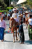 Procession, Myanmar, Burma, Southeast Asia, Asia