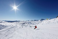Ski area on Krippenstein Mountain, Dachstein Mountains, Salzkammergut, Upper Austria, Austria, Europe