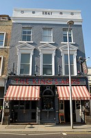 The King´s Arms pub in Fulham Road, Chelsea, London, UK