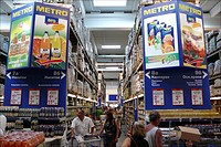 Supermarket metro in Bulgaria Metro is a German based company