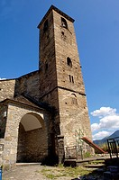 San Saturnino Church, Oto, Ordesa National Park, Huesca, Aragon, Spain