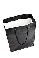 Black Shopping Bag with white background