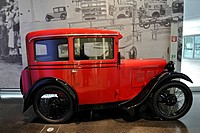 Old BMW car from about 1930, BMW Museum, Munich, Bavaria, Germany, Europe