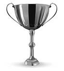 vector realistic winner goblet on white background, gradient mesh used