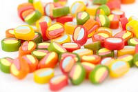 A full background of brightly colored candy
