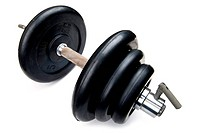 object on white _ dumbbell close up