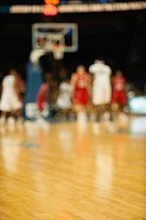 Basketball game, defocused