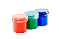 three color of paint isolated