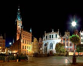 The Town Hall and Artus Court in Gdansk, Poland.