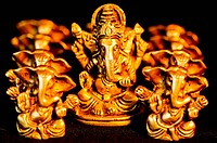 The Hindu God Ganesha surrounded amongst Ganesha´s