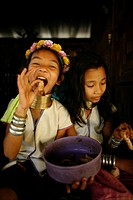 Longneck girls eating larvae Approximately 300 Burmese refugees in Thailand are members of the indigenous group known as the Longnecks The largest of ...