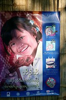 Public health poster promoting good cooking practices in Mae Sot Around 130,000 Burmese refugees have settled in Thailand due to opression in their ho...