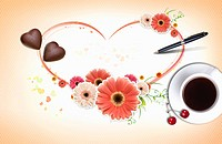 The love letter with coffee and chocolate